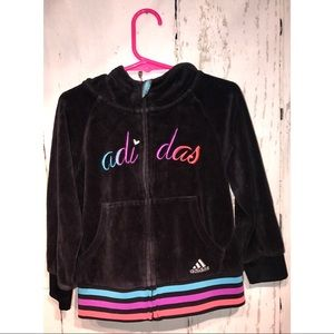 Adidas Toddler Velour Zip Up Hoodie 3T